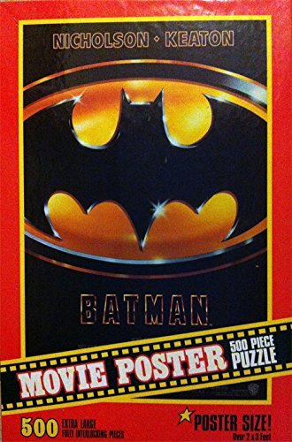 Batman Movie Poster Puzzle 500 Pieces Milton Bradley 2'x3' 1