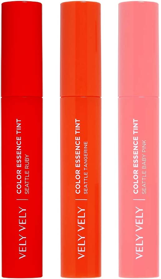 Tinte para labios de esencia de color VELY VELY VELY COLOR – Rich Pigment Hidratante Ligero Natural Sheer Lip Stain (5 ml / 5 g) (Seattle Baby Rosa)