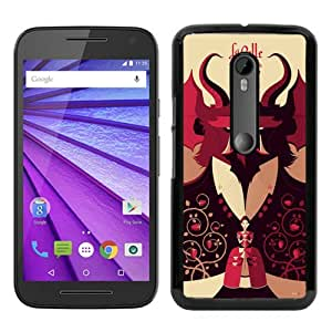Recommended Design Moto G 3rd Case,Beauty and the Beast Black Motorola Moto G 3rd Generation Customized Case