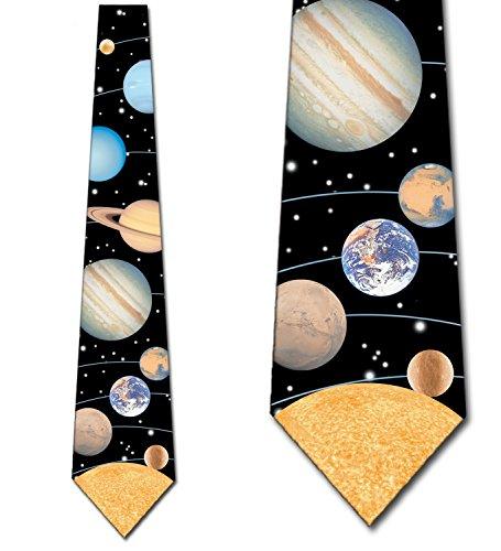 Solar Tie - Solar System Tie Mens Planets Astrology Necktie