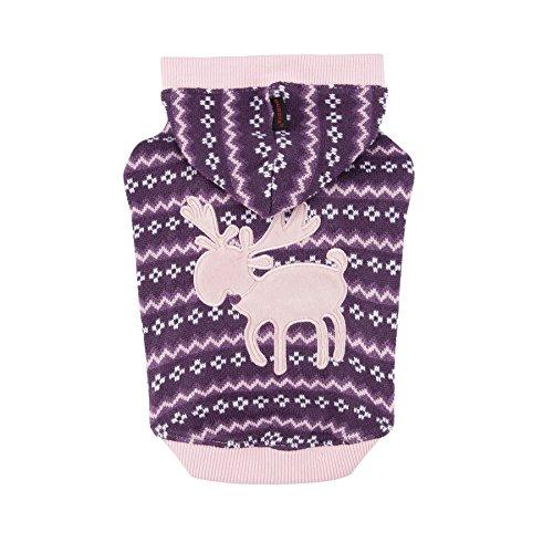 Puppia Authentic Vixen Hoodie, Medium, Purple by Puppia