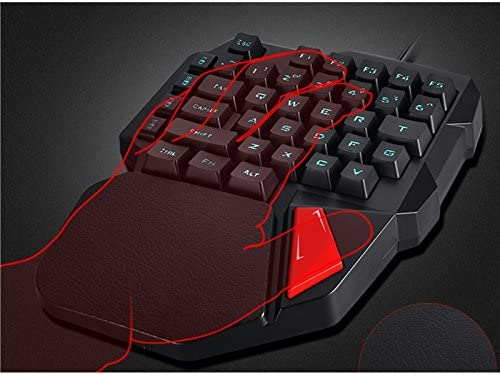 Black Gaming Keyboard Mechanical Gaming Keyboard Mixed LED Backlit Single-Hand Control Switch Mechanical Game Andosange