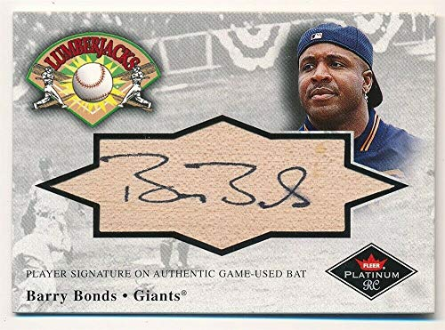 BIGBOYD SPORTS CARDS Barry Bonds 2001 Fleer Platinum Lumberjacks Autograph ON BAT AUTO Giants SP