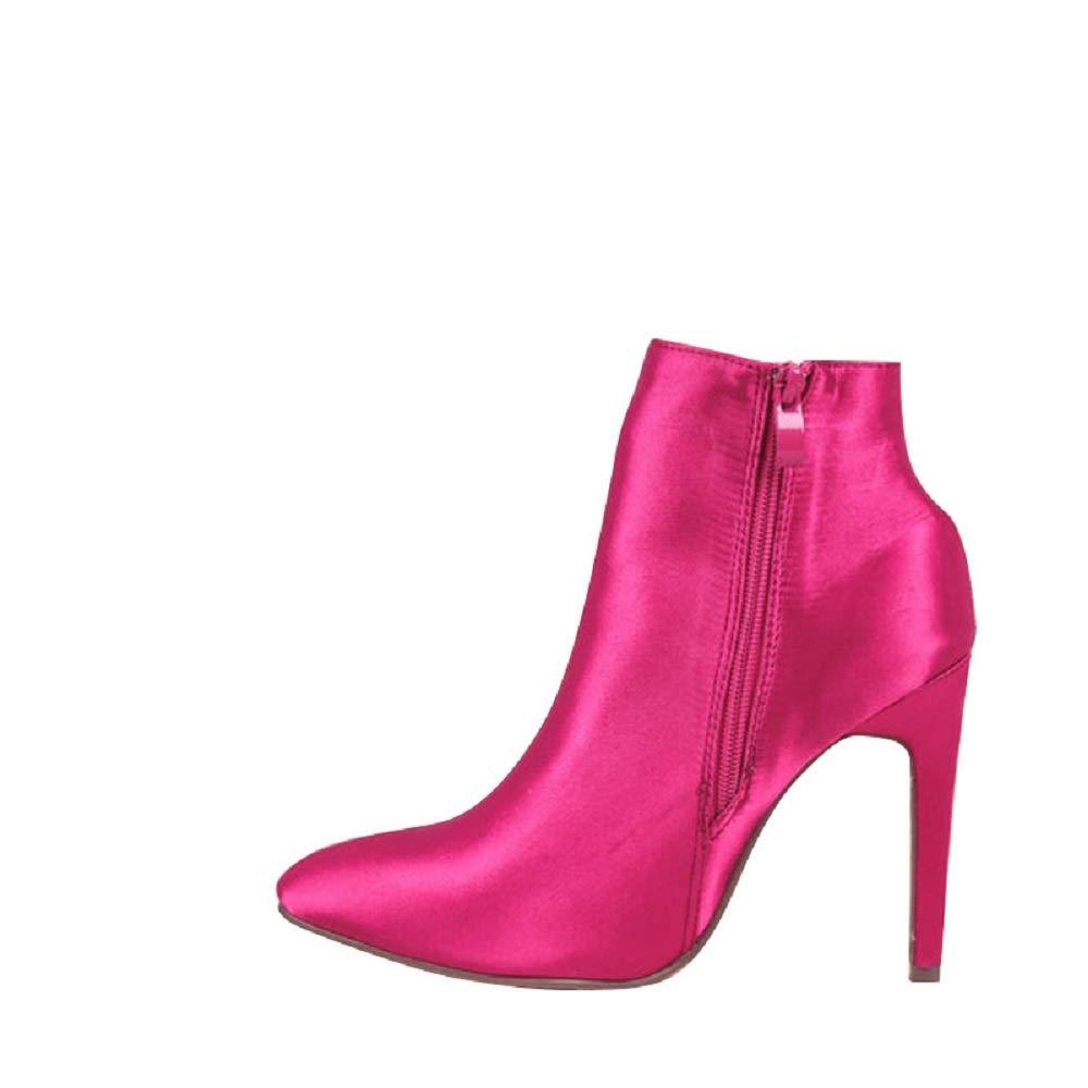 Fuxitoggo Große High Größe Stiefel Frauen High Große Heel Sexy Zipper Schuhe (Farbe   Rot, Größe   EU 42) f461f2