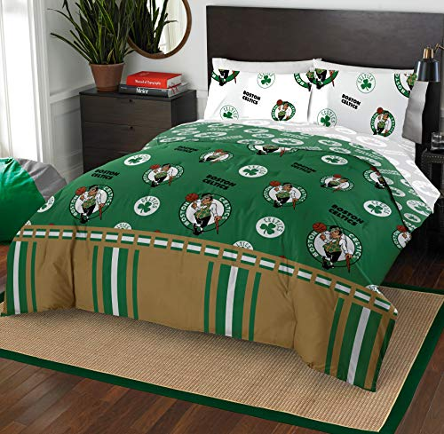 (The Northwest Company NBA Boston Celtics Queen Bed in a Bag Complete Bedding Set #210040237)