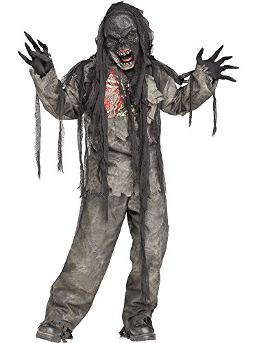 Burning Dead Zombie Costume for Kids (Medium 8-10) (Kids Zombie Halloween Costumes)