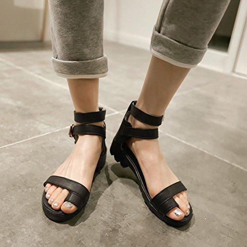 Carol Chaussures Mode Femmes Boucles Deau Confort Extérieur Décontracté Sandales Noir