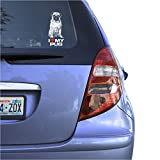 I Love My Pug Clear Vinyl Decal Sticker for