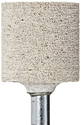 "CoreTemp 97800 Type W220 A80F Cotton Fiber Abrasive Mounted Point, Latex Bond, 30000 RPM, 1"" Diameter x 1"" Length (Pack of 1)"