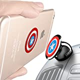 Universal Magnetic Car Mount - for Any Phone, GPS or Light Tablet   Stylish Black Chrome One-Hand & One-Sec Dash Holder, 100 to Safeness & Comfort