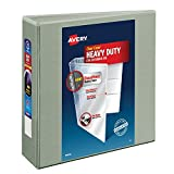 Avery Heavy-Duty View Binder with 3-Inch One Touch EZD Ring, Gray (79403)