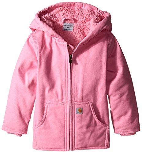 Carhartt Little Girls' Toddler Redwood Comfort Jacket, Pink, 4T