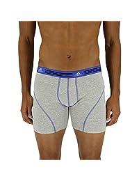 adidas para hombre ropa interior bóxer atlético elástico de algodón (2 unidades).
