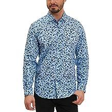 Robert Graham Hardin Long Sleeve Woven Shirt Blue Large