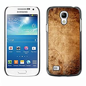 KOKO CASE / Samsung Galaxy S4 Mini i9190 MINI VERSION! / papel tapiz antiguo arte de la lona de papel viejo / Delgado Negro Plástico caso cubierta Shell Armor Funda Case Cover