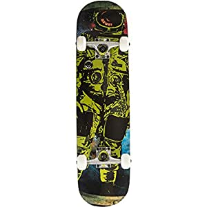 Cal Seven Complete Astronaut Popsicle Double Kicktail Skateboard (Green)