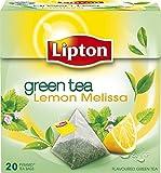 Lipton – GREEN TEA LEMON MELISSA – 20 count box (Pack 8 boxes = 160 count) Pyramid tea bags For Sale