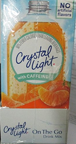 Crystal Light On The Go Splash, Citrus with Caffeine, 0.9-Ounce (Pack of 6) (Free Sugar Splash)
