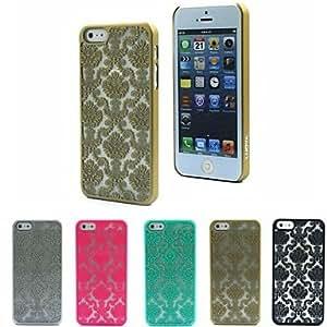 Mini - Transparent Auspicious Pattern Design Window Grilles Royal Style Back Case Cover for iPhone 5/5S , Color: Brown