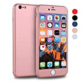 full body protector for iphone 6 - iPhone 6s Case, VANSIN 360 Full Body Cover Ultra Thin Protective Hard Slim Case Coated Non Slip Matte Surface with Screen Protector for Apple iPhone 6 and iPhone 6s (4.7'') - Rose Gold