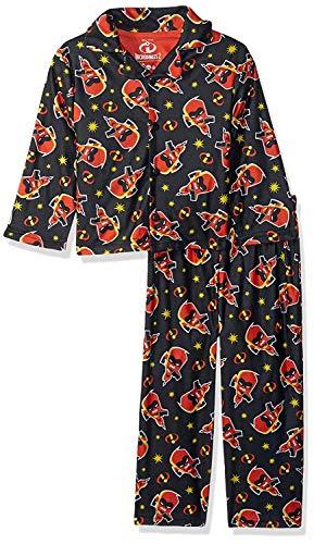 Pixar Boys' Big Incredibles 2-Piece Pajama Coat Set, Jack Black -