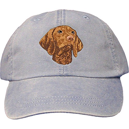 Cherrybrook Dog Breed Embroidered Adams Cotton Twill Caps - Periwinkle - Vizsla (Vizsla Hat)