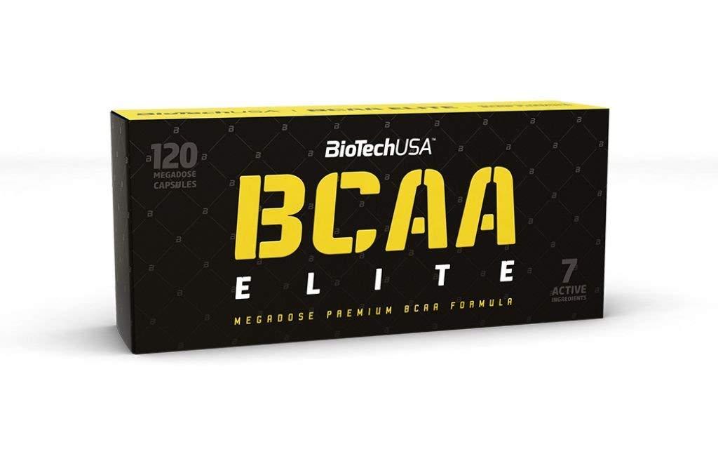BioTechUSA Elite Series BCAA Elite 120 Capsules Amino Acids with L-Leucine, L-Isoleucine and L-Valine. BCAA Supplement