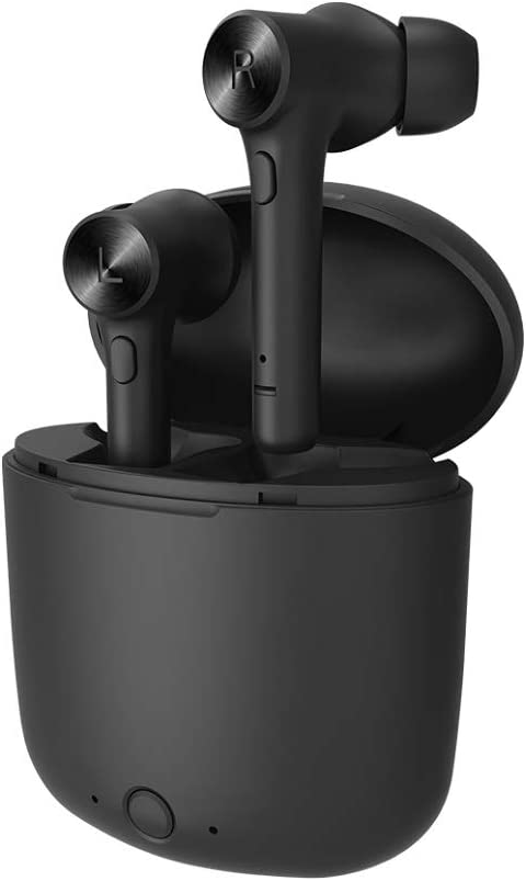 Bluedio TWS Wireless Headphones with Face Recognition Feature, True Wireless Earbuds Bluetooth V5.0 Wireless Earphones Sports Running Headset with Charging Case Built-in Mic (Hurricane-HI Black)