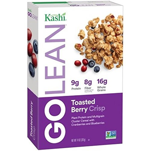 Kashi GO Toasted Berry Crisp Cereal - Vegan | Non-GMO | Bulk Size 14 Oz Box (Pack of 4)