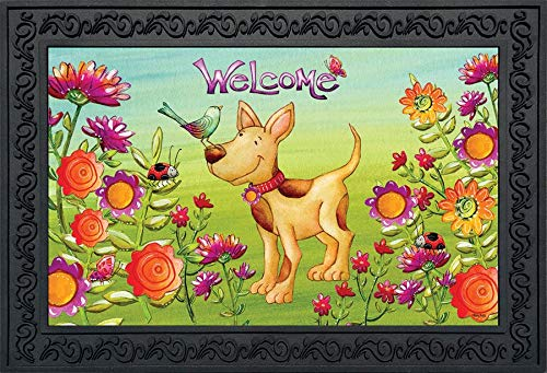 Primitive Spring - Briarwood Lane Garden Friends Dog Spring Doormat Primitive Indoor Outdoor 18