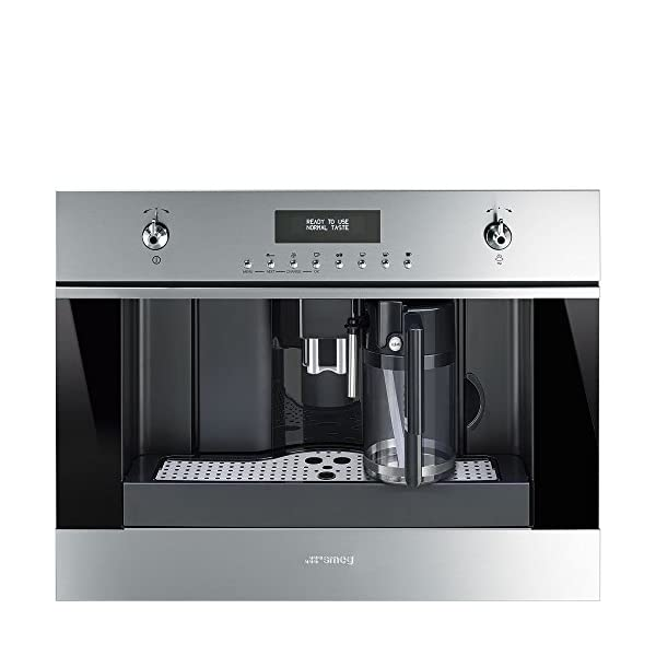 """Smeg 24"""" Built In Fully Automatic Coffee Machine with Milk Frother, Stainless Steel 1"""