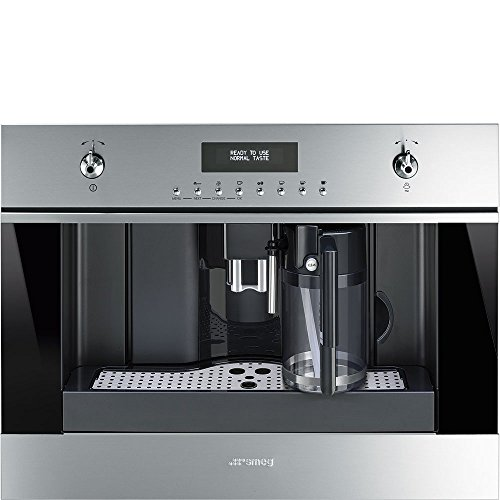 Smeg CMSU6451X 24'' Built In Fully Automatic Coffee Machine with Milk Frother, Stainless Steel by Smeg