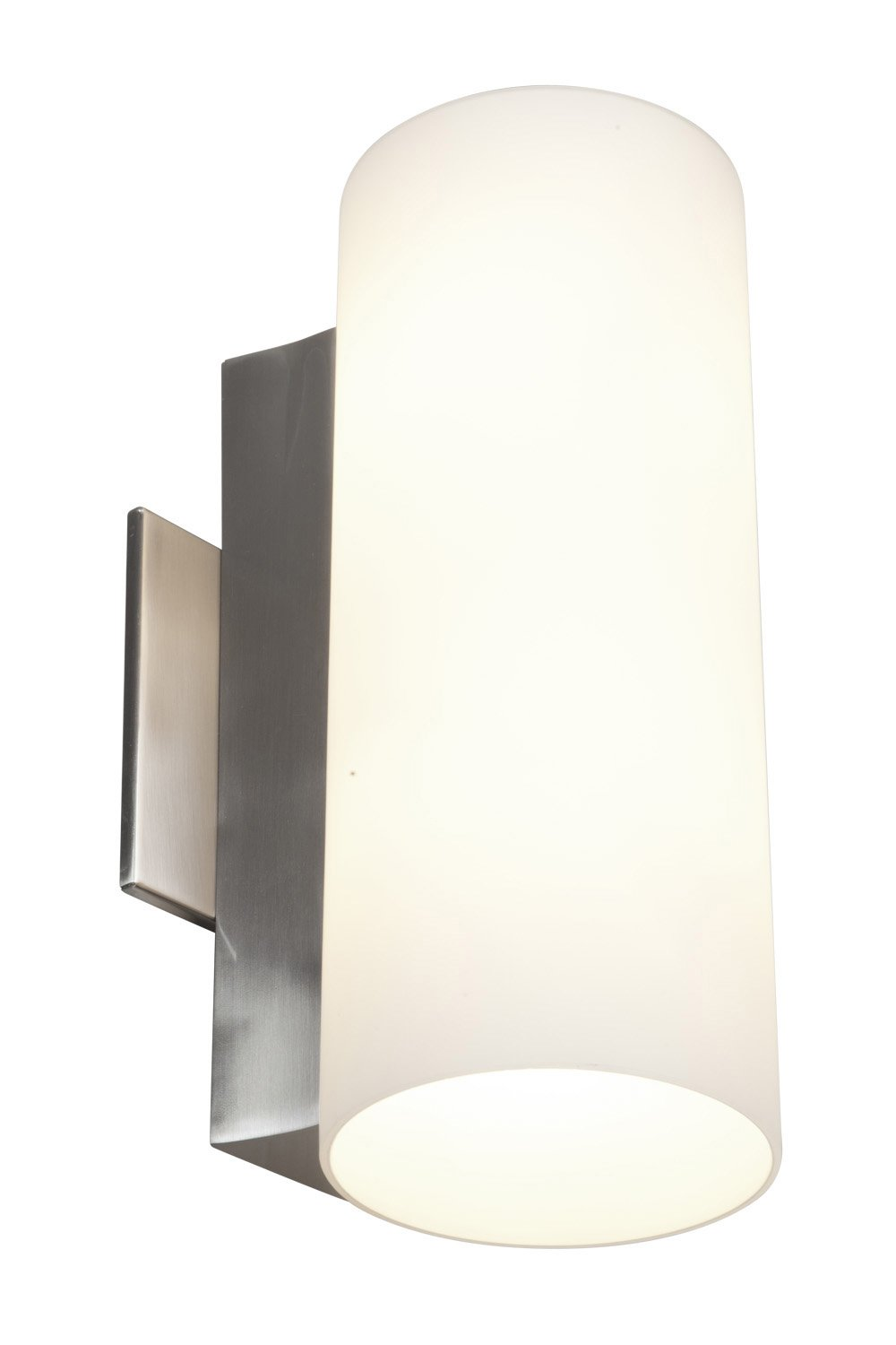 Tabo - Vanity - Brushed Steel Finish - Opal Glass Shade - Vanity ...