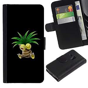 // PHONE CASE GIFT // Moda Estuche Funda de Cuero Billetera Tarjeta de crédito dinero bolsa Cubierta de proteccion Caso Samsung Galaxy S3 MINI 8190 / P0Kemon Sprout /