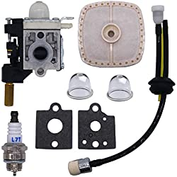 FitBest Carburetor with Fuel Maintenance Kit Spark Plug Air Filter for ECHO GT200 GT201i HC150 HC151 PE200 PE201 Trimmer / Brushcutter Replaces RB-K75