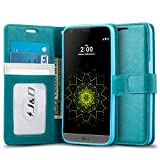 LG G5 Case, J&D [Wallet Stand] LG G5 Wallet Case Heavy Duty Protective Shock Resistant Wallet Case for LG G5 (Aqua)