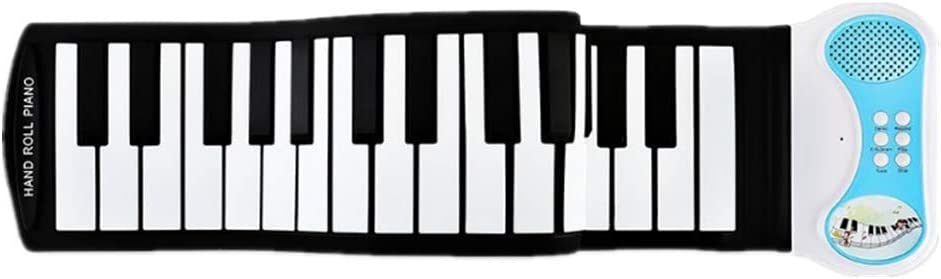 Piano portátil teclado de piano electrónico USB de silicona ...