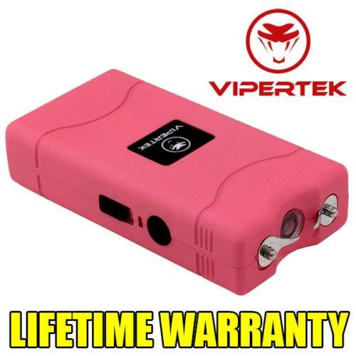 VIPERTEK PINK VTS-880 90 MV Mini Rechargeable LED Police Stun Gun + Taser Case