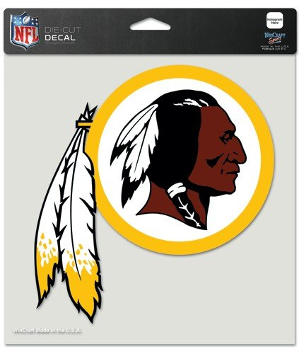 WinCraft NFL Washington Redskins Die-Cut Color Decal, 8