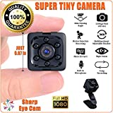 "SharpEyeCam Super Tiny Hidden Mini Action Sport Camera. Cop Cam. Wireless, Just 1"" Cubed, 1/2 Ounce. Full HD Video 1920x1080, Audio, Night Vision, Motion Sensor, Loop Recording, with Card Reader"