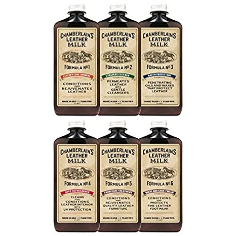 Astounding Leather Milk Complete Leather Care Kit Leather Conditioner Cleaner And Protector Set No 1 6 Full Set 6 Bottles All Natural Non Toxic Made Unemploymentrelief Wooden Chair Designs For Living Room Unemploymentrelieforg