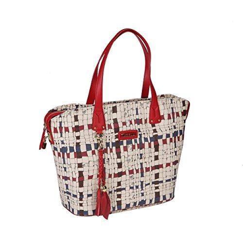 Piero Rosso Rubino Intreccio 31a051529 Guidi Shopper Art Donna 6wrzO614