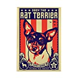 CafePress - Obey the Rat Terrier! - USA Magnet - Rectangle Magnet, 2