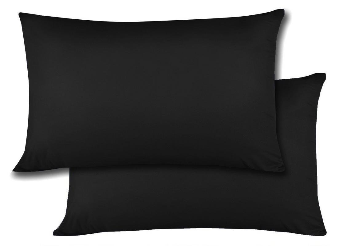 Travel Pillow Cases 14x20 Size Natural Cotton Zipper Pillow Cases Set of 2 Travel Pillowcase 600 Thread Count 100% Egyptian Cotton 2 Pack, Toddler Pillow Cases Black Solid Zipper Closer