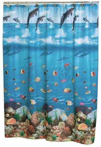 Amazon Carnation Home Fashions 70 X 72 Fabric Shower Curtain Seascape Kitchen