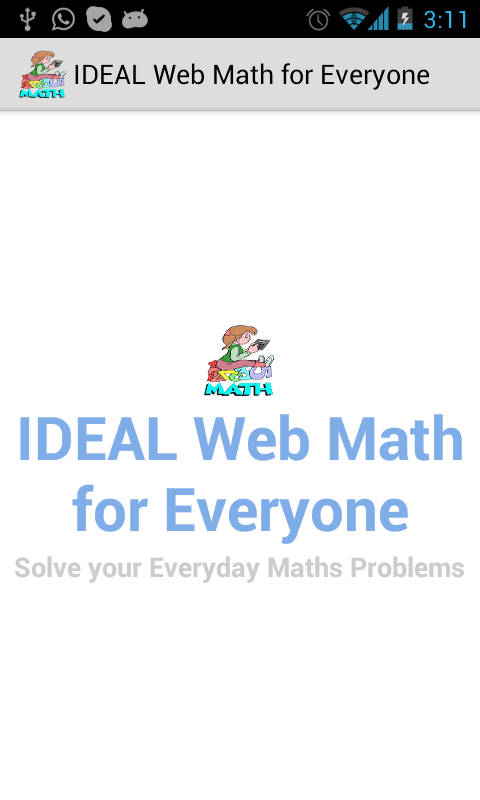 Amazon.com: IDEAL Web Math for Everyone: Appstore for Android