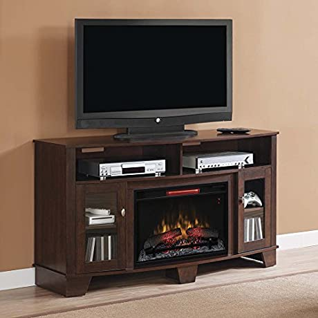 LaSalle Cherry Infrared Electric Fireplace Media Cabinet 26MM4995 NC72