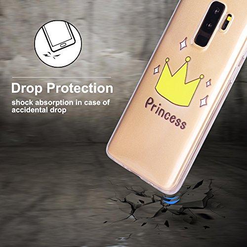 3x Funda para Samsung S9, CaseLover Suave Transparente TPU Silicona Carcasa para Samsung Galaxy S9 Ultra Delgado Flexible Goma Gel Protectiva Caso Anti Rasguños Cubierta Anti Choque Caja Case Cover
