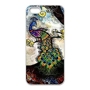 Lucky Colorful peacock Cell For Ipod Touch 5 Phone Case Cover