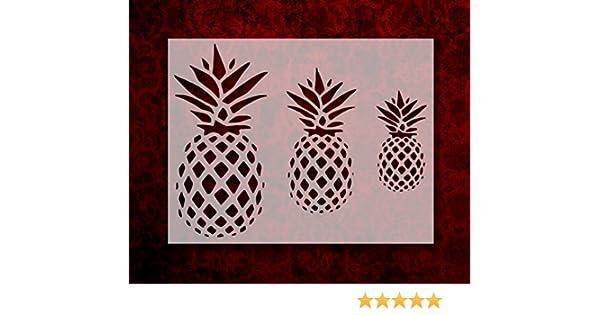 "Pineapple Custom Stencil 11/"" x  8.5/"" Primitive Pineapples FREE SHIPPING"